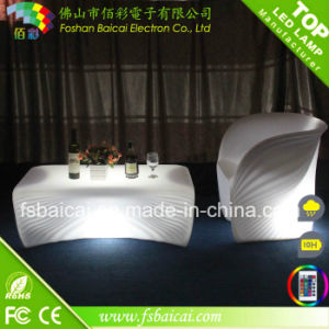 LED Glowing PE Bar Counter /LED Table and Chair
