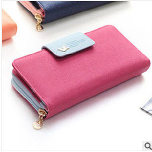 2017 New Korean Long Purse Lady Coin Wallet Large Capacity Card Pack Mobile Phone Bag pictures & photos