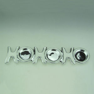 Letter Shape Silver Ceramic Candle Holder pictures & photos