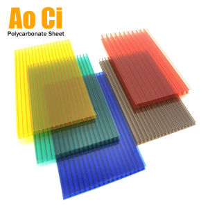 China Fire Resistance Colored Hollow Polycarbonate Sheet Twin Wall ...