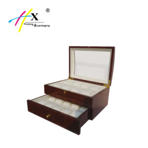 Luxury Design Personalized Wooden Watch Box with Drawer pictures & photos
