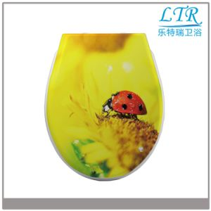 Hot Sale Universal Duroplast Printed Toilet Seat Cover