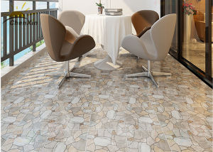 China Square Balcony Floor Ceramic Tile Brick Style Low Water