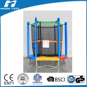 "55"" Mini Colourful Trampoline with Enclosure"