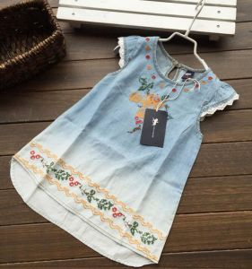 Ready Made Girl Jean Dress in Children Clothes