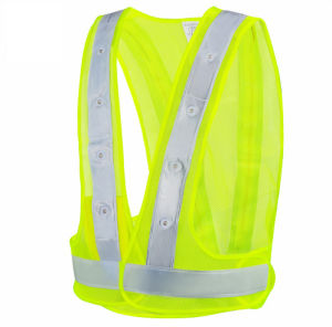 Reflective Safety Vests with PVC Crystal Tape pictures & photos