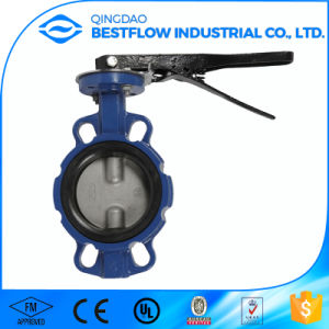 Industrial Cast Iron Handle Wafer Butterfly Valve pictures & photos