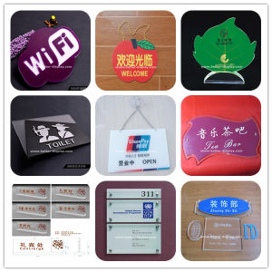 Silkscreen Printed Clear Acrylic Nameplate (BTR-I8021) pictures & photos