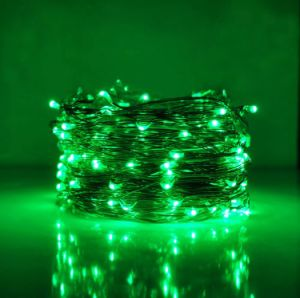 EU Adaptor Mini String Light 200 LEDs Ultra Thin Silver Wire Rope Lights for Trees Wedding Parties Jar Bedroom