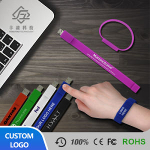 Silicone Wristband Colorful Bracelet USB Flash Drive Memory Stick Gift Pen Sports Bracelet