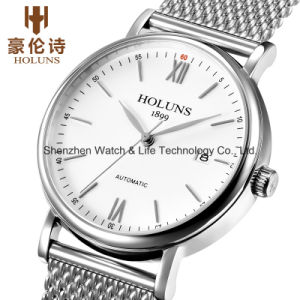 Stainless Steel Mesh Band Automatic Swiss Watch pictures & photos
