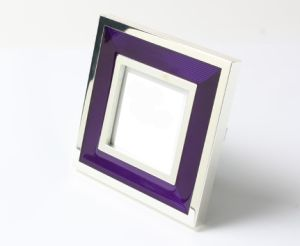Silver Plated 3X3 Photo Frame with Enamel Color