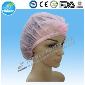 Disposable Medical Nonwoven Single Elastic Mob Cap pictures & photos
