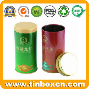 Round Tin Tea Box with Food Grade, Tea Can pictures & photos