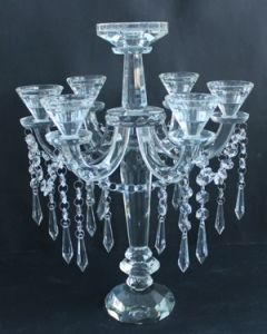 Crystal Candle Holder with Seven Posters for Wedding Decoration pictures & photos