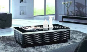 Black Board Tempered Glass Coffee Table pictures & photos