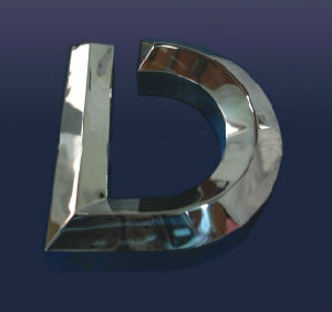 3D Polished Stainless Steel Letter