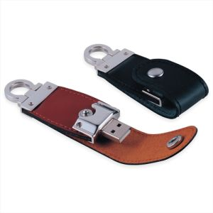 Leather USB Flash Drive Flash Disk (SMS-FDL03)