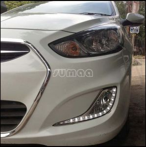 China Led Daytime Running Driving Lights Kits For Hyundai Accent Solaris High Quality Drl Super Bright Headlights