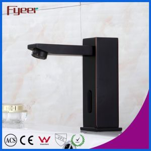 High Quality Solid Brass Black Automatic Sensor Faucet Bathroom Tap pictures & photos