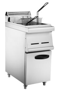 Ce Approved Vertical Commercial Food Cabinet Gas Deep Fryer pictures & photos