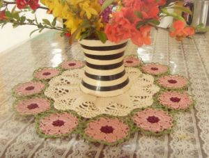 China 100 Cotton Hand Crochet Doilies Table Mat Cup Coaster