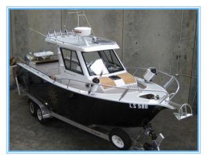 Cabin boat aluminum boat hulls for sale china for Aluminum boat with cabin for sale