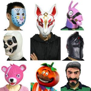 2018 Costume Halloween Cosplay Party Full Skin Costume New Latex John Wick Fox Drift Llama Pink Bear Face Fortnite Mask
