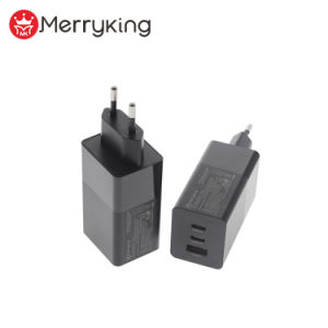 Merryking Factory EU Plug GaN 65W Pd Charger 3 Ports USB Fast Wall Charger