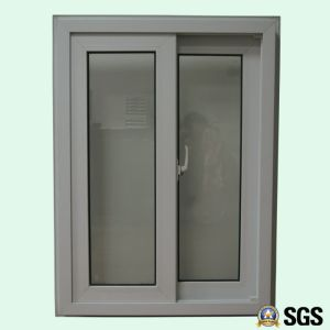 White Colour UPVC Profile Sliding Window with Special Edge, UPVC Window, Window K02081