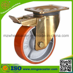 5 Inch Heavy Duty Double Brake Industrial Caster Wheel pictures & photos
