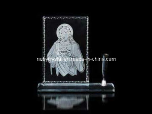 Engraved Jesus Crystal Penstand (R3010) pictures & photos