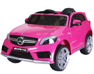 Licensed Mercedes A45 12v Ride On Electric Car With Remote Pink