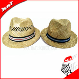 Seagrass Straw Hat Nutural Straw Fedora Hat pictures & photos
