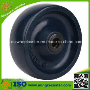 3--8 Inch Blue Solid PU Wheels with Roller Bearing pictures & photos