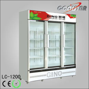 Luxury Three Door Large Capacity Display Refrigerator pictures & photos