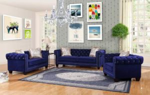 Fabric Modern Sofa with Cyystal Tufting pictures & photos