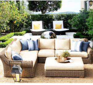 2017 PE Rattan Outdoor Garden Sofa (S349) pictures & photos