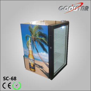 Table Top Beverage Cooler Display Refrigerator (SC68) pictures & photos
