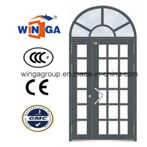 New Church French Style Security Steel Round Glass Door (W-GD-08) pictures & photos