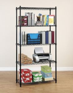 5 Tiers Home Kitchen Garage Office Wire Shelving Storage Rack pictures & photos