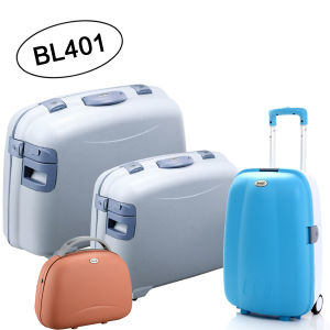 Fashion Design with Wooden Accessory Trolley Luggage Set, Suitcase Set (BL401) pictures & photos