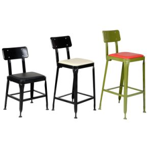 Outdoor Iron PU Metal Commercial Dining Hotel Bar Stool (JH-I08C)