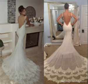 Backless Bridal Wedding Gown Slim Lace Wedding Dress Wd2015