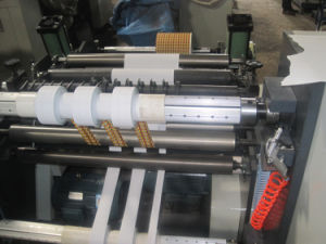 Rtfq-1500 Horizontal Type Paper Label PVC Roll Slitting and Rewinding Machine pictures & photos