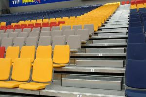 Kook Plastic Seating/ Gym Seating Telescopic Seating/ Retractable Seating