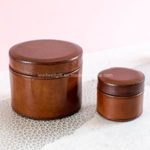 Ladies Leather Jewelry Watch Box Round Case pictures & photos