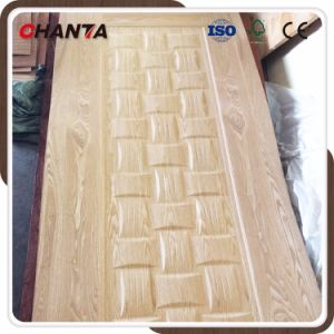 Wood Veneer Exterior Moulded Door Skin with New Design pictures & photos