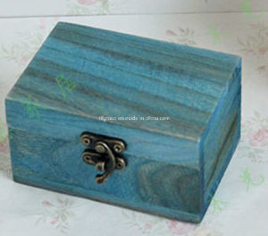 Customized Pine Wood Wine Boxes Display Box in Natural Color pictures & photos