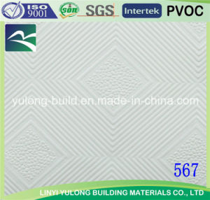 High Quality PVC Gypsum Ceiling Tiles (Islamil) (595mm X 595mm/600mm X 600mm/603mmx603mm) pictures & photos